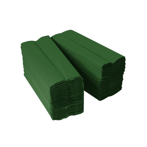 Recycled Hand Towel Eco Centre Fold Green 3000pk
