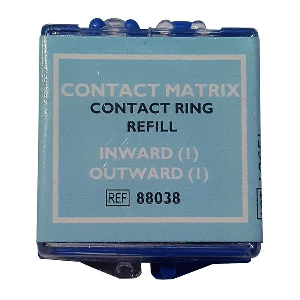 Contact Matrix Rings