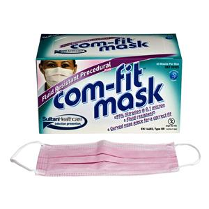 Com Fit Face Mask Fluid Res Loop IIR Pink 50pk
