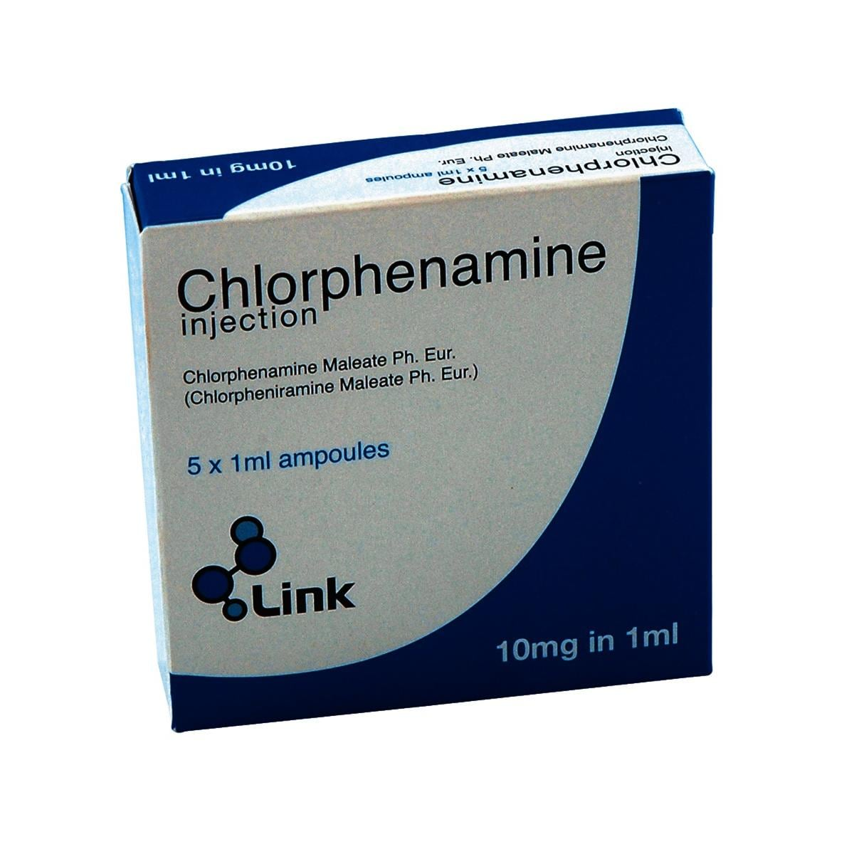 Chlorphenamine Injection 10mg/1ml Amp 5pk UK ONLY