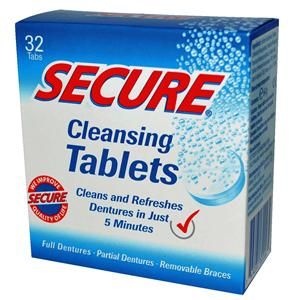 Secure Denture Cleaning Tabs 32 6pk