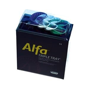 Alfa Triple Trays Disposable Assorted 24pk