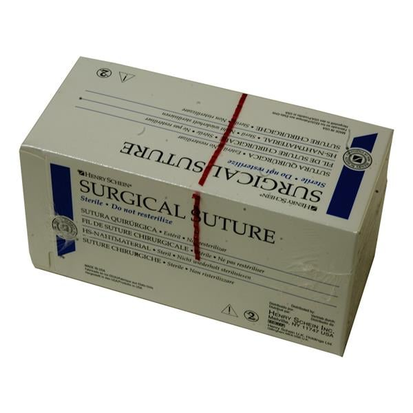 HS Suture Silk Black 1/2TC18 3-0 45cm 12pk