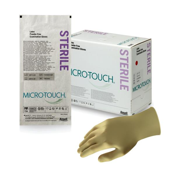 Microtouch Gloves Sterile Latex Powder-Free Small 50 pairs