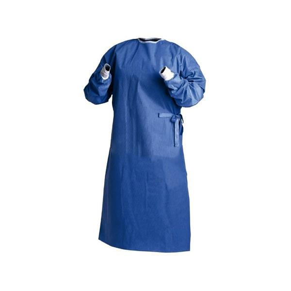 HS Surgical Gown Sterile Blue Medium
