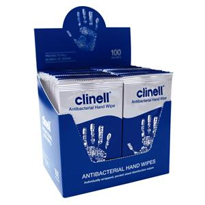 Clinell Antimicrobial Hand Wipes 100pk