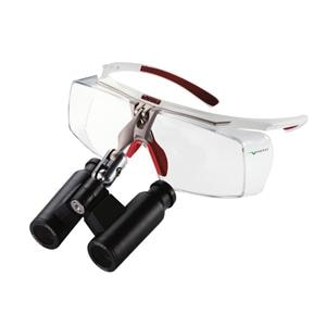 Air-X Prismatic Loupes Flip-Up 6.0 X 400 White/Red