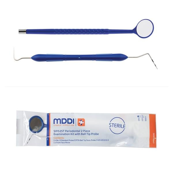 Sterile SU 2Piece Perio Kit W/Ball Tip Probe 100pk