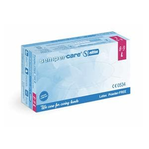 Sempercare Gloves Exam Latex PF Large 100pk