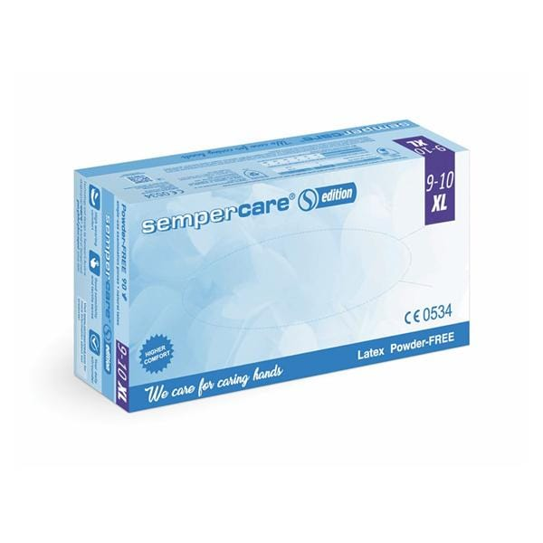 Sempercare Gloves Exam Latex PF X-Large 90pk
